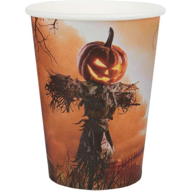 """Kubeczki papierowe """"Dynia Halloween"""", Santex, 270 ml, 10 szt"""
