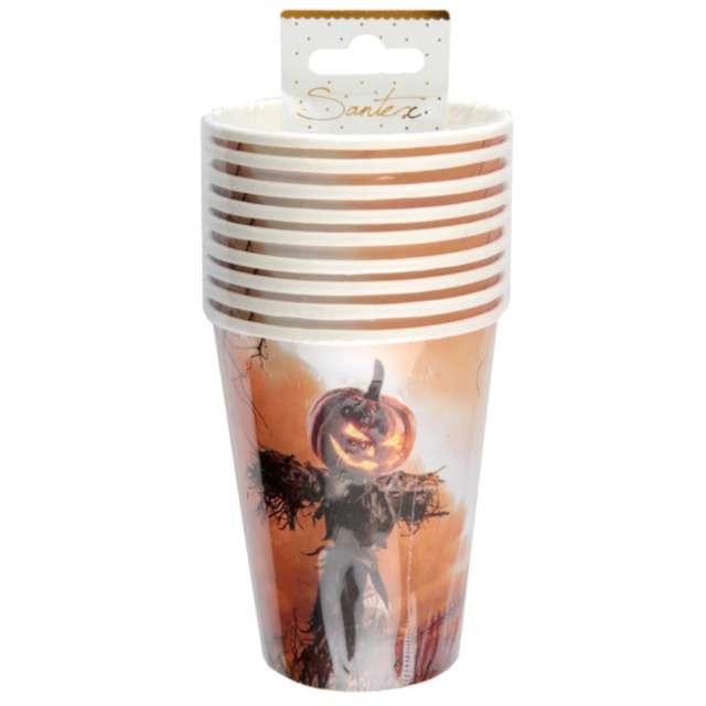 Kubeczki papierowe Dynia Halloween Santex 270 ml 10 szt