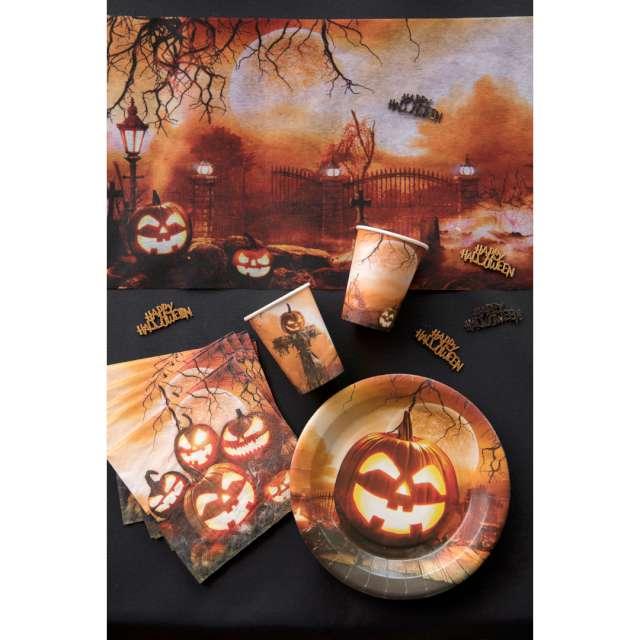 Talerzyki papierowe Dynia Halloween Santex 23 cm 10 szt