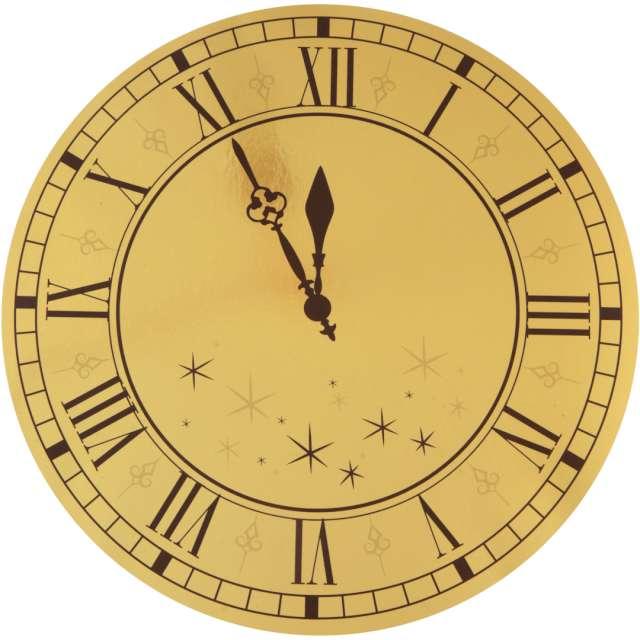 Podkładki na stół Sylwester - Złoty Zegar SANTEX 34 cm 4 szt