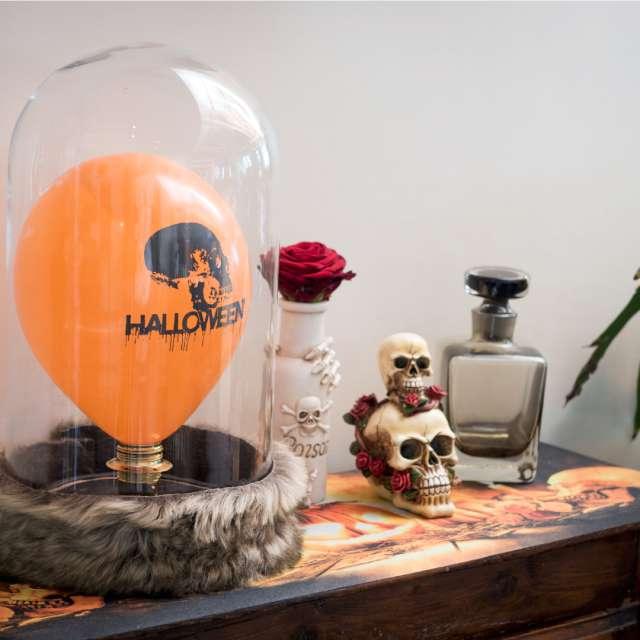 _xx_Balon halloween pomaranczowy czaszka
