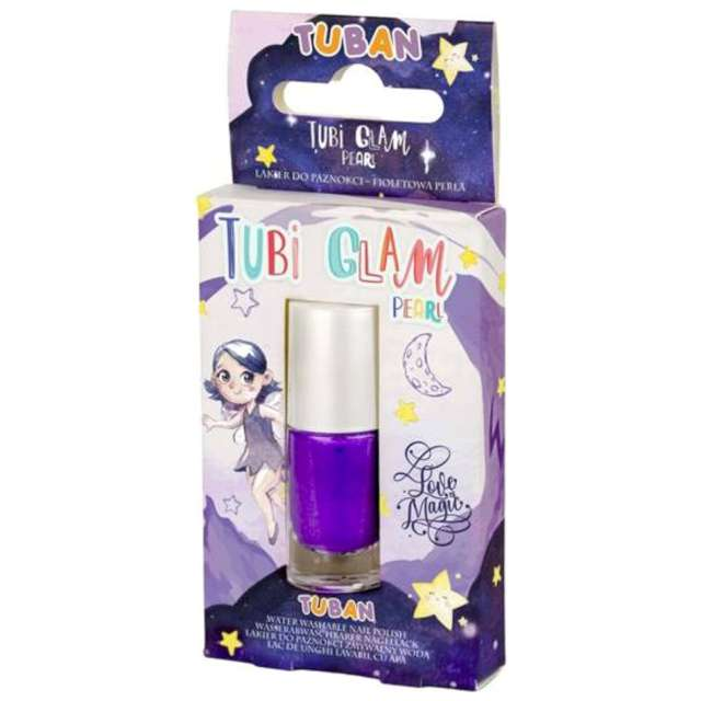 """Make-up party """"Lakier do paznokci TUBI GLAM"""", fioletowy perłowy, Tuban, 5 ml"""