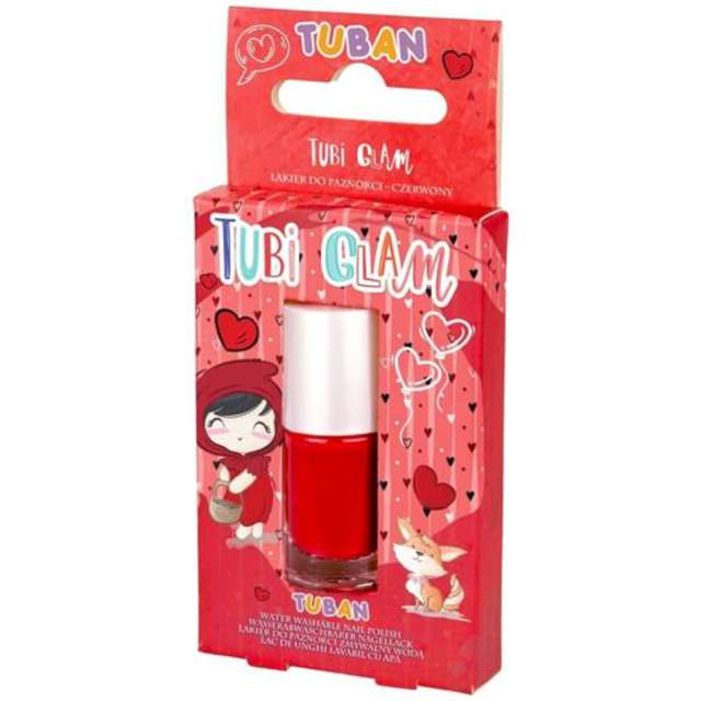 """Make-up party """"Lakier do paznokci TUBI GLAM"""", czerwony, Tuban, 5 ml"""