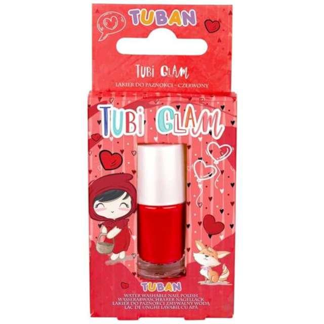 Make-up party Lakier do paznokci TUBI GLAM czerwony Tuban 5 ml