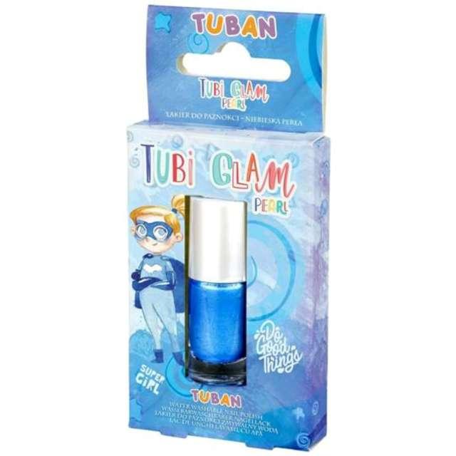 """Make-up party """"Lakier do paznokci TUBI GLAM"""", niebieski perłowy, Tuban, 5 ml"""
