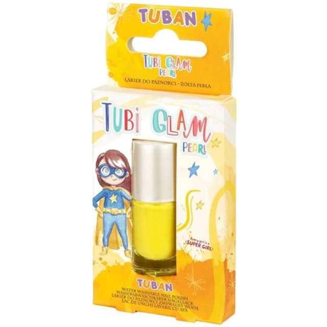 """Make-up party """"Lakier do paznokci TUBI GLAM"""", żółty perłowy, Tuban, 5 ml"""