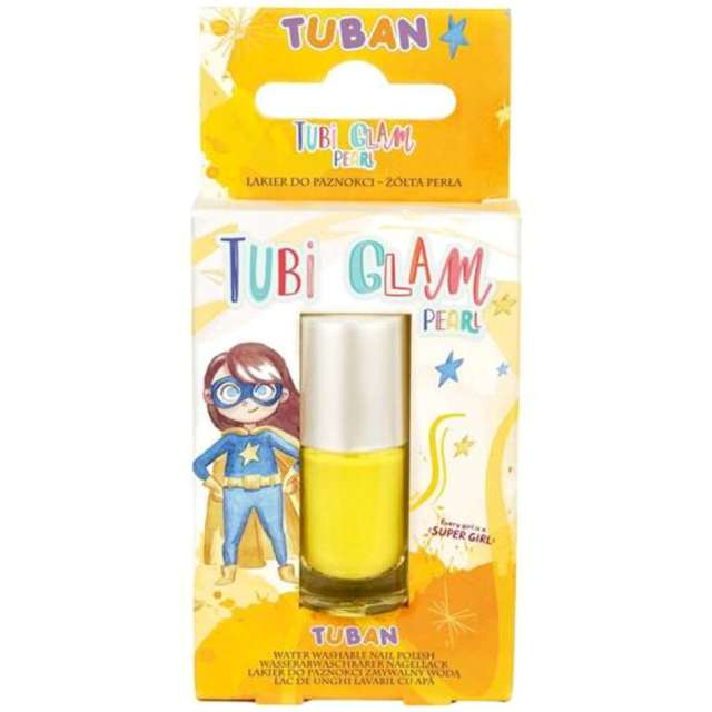 Make-up party Lakier do paznokci TUBI GLAM żółty perłowy Tuban 5 ml