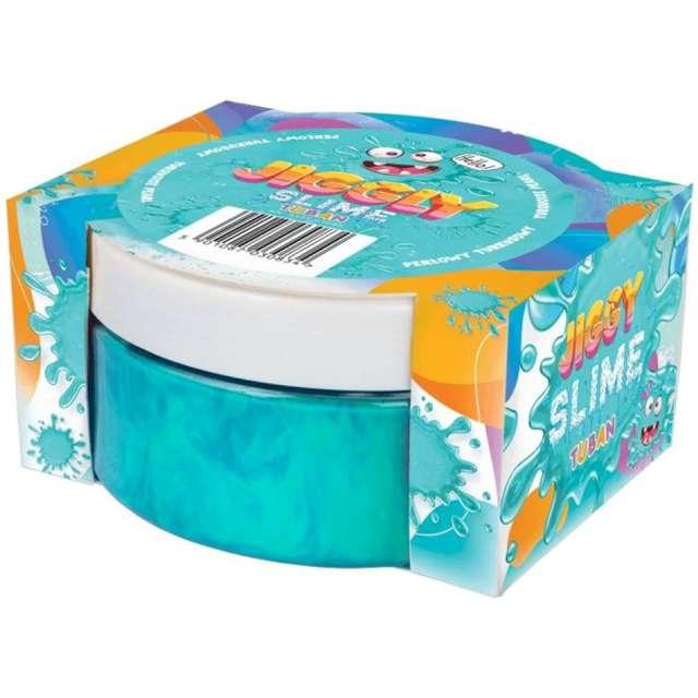 Zestaw Jiggly Slime - turkusowy perłowy Tuban 200g