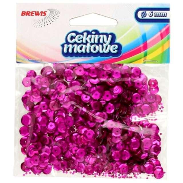 Cekiny Classic Matowe różowe 6 mm Brewis 10 g