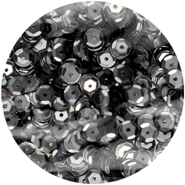 "Cekiny ""Classic Matowe"", szare, 6 mm, Brewis, 10 g"