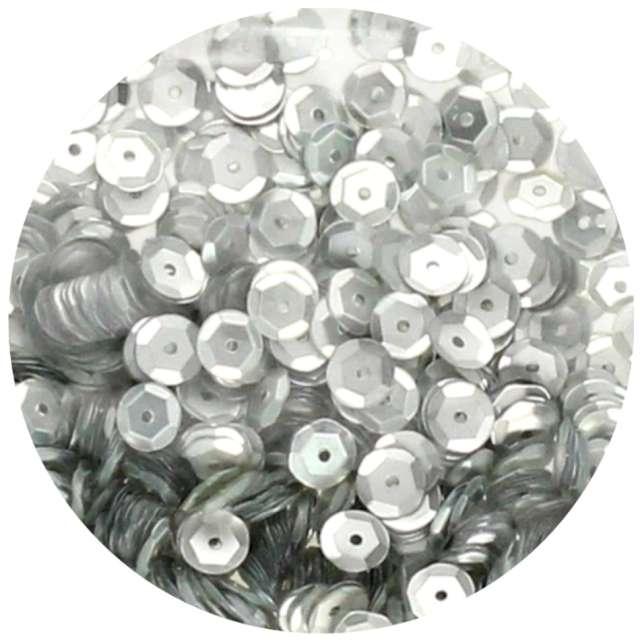 "Cekiny ""Classic Matowe"", srebrne, 6 mm, Brewis, 10 g"