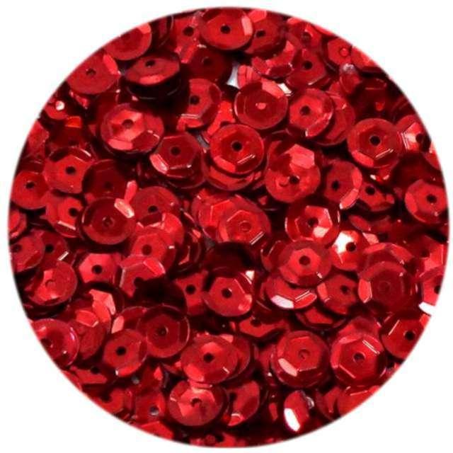 """Cekiny """"Classic Matowe"""", czerwone, 6 mm, Brewis, 10 g"""