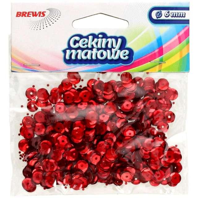 Cekiny Classic Matowe czerwone 6 mm Brewis 10 g