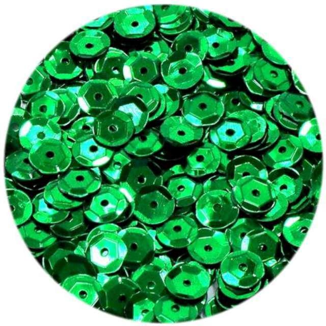 "Cekiny ""Classic Matowe"", zielone, 6 mm, Brewis, 10 g"