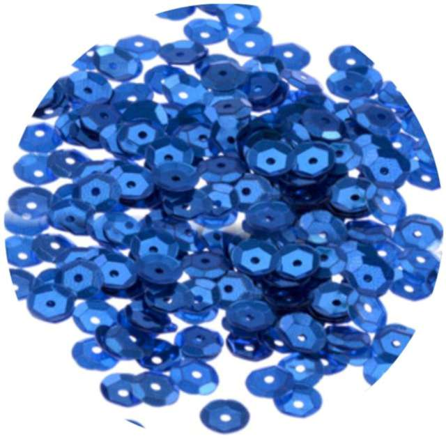 """Cekiny """"Classic Matowe"""", niebieskie, 6 mm, Brewis, 10 g"""