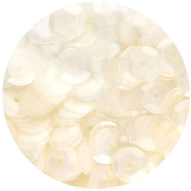 Cekiny Classic Matowe białe 8 mm Brewis 10 g