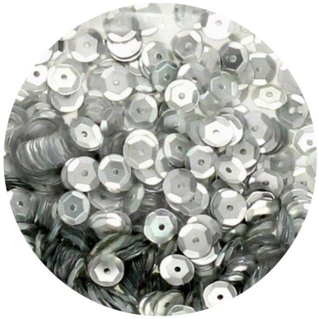 "Cekiny ""Classic Matowe"", srebrne, 8 mm, Brewis, 10 g"