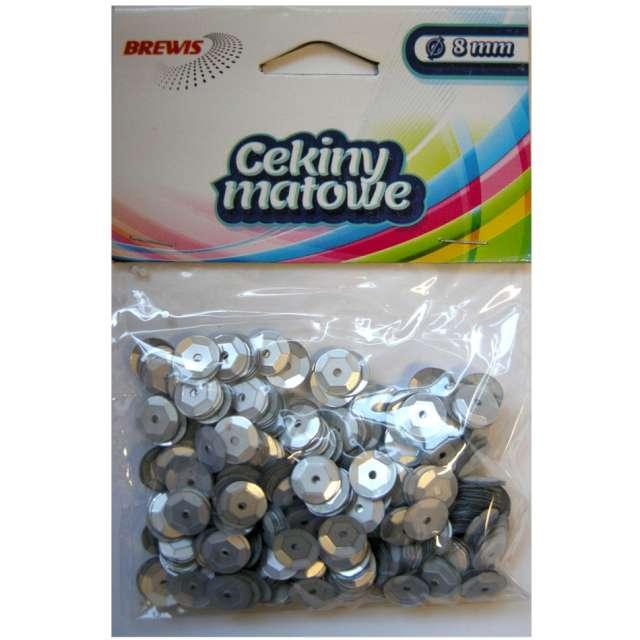Cekiny Classic Matowe srebrne 8 mm Brewis 10 g
