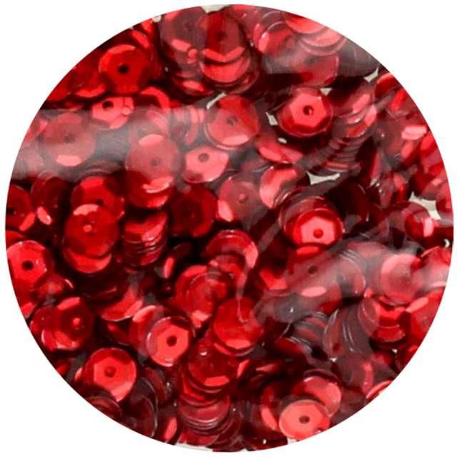 """Cekiny """"Classic Matowe"""", czerwone, 8 mm, Brewis, 10 g"""