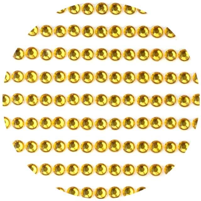 """Dżety samoprzylepne """"Kryształki 3D 4mm"""", złote, Brewis"""