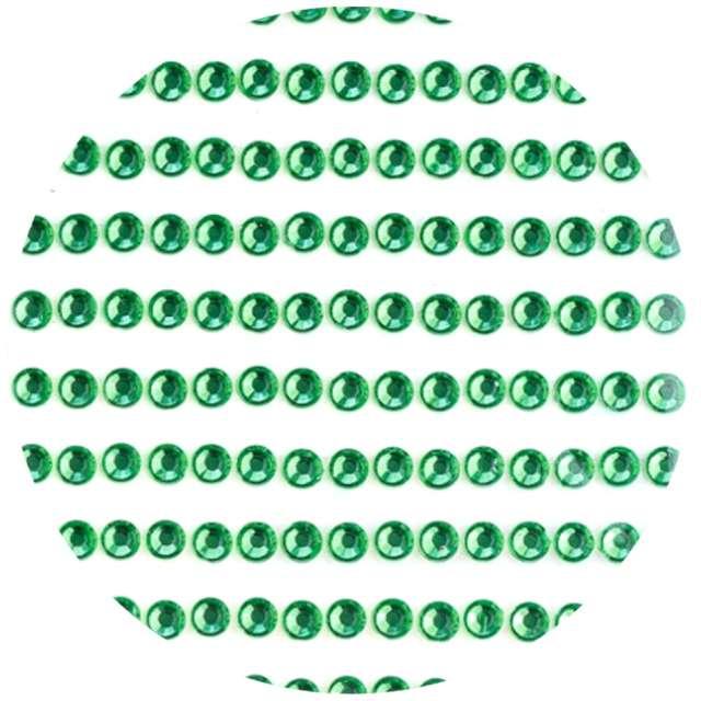 """Dżety samoprzylepne """"Kryształki 3D 4mm"""", zielone, Brewis"""