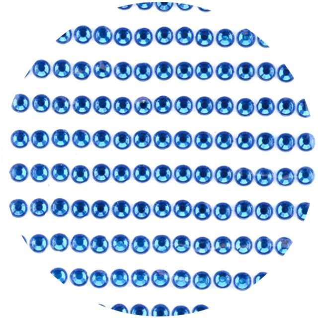"""Dżety samoprzylepne """"Kryształki 3D 4mm"""", niebieskie, Brewis"""