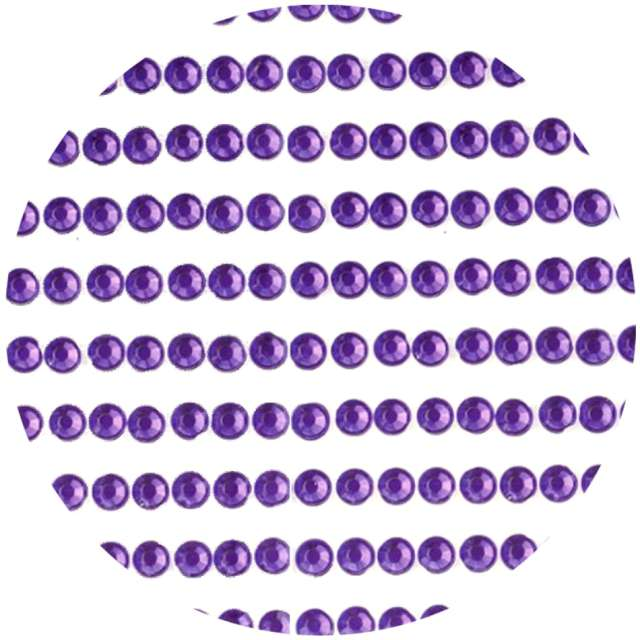 """Dżety samoprzylepne """"Kryształki 3D 4mm"""", fioletowe, Brewis"""