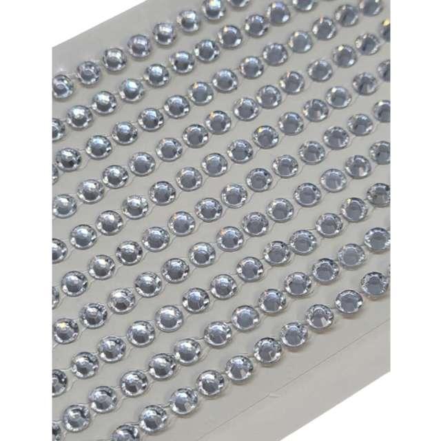 Dżety samoprzylepne Kryształki 3D 6mm srebrne Brewis