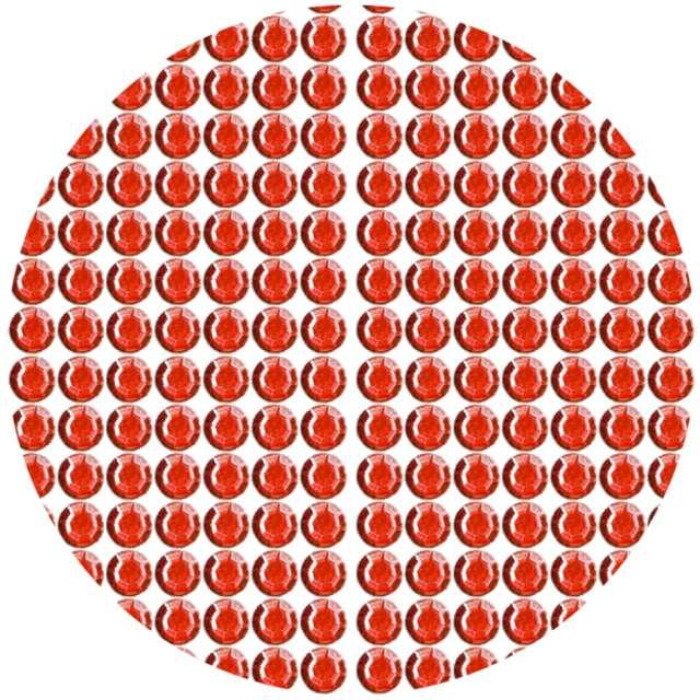 """Dżety samoprzylepne """"Kryształki 3D 6mm"""", czerwone, Brewis"""