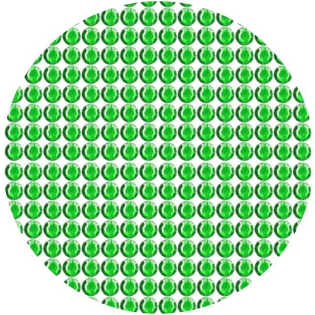 Dżety samoprzylepne Kryształki 3D 6mm zielone Brewis
