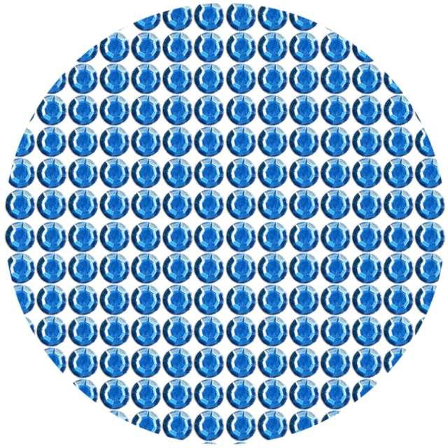 """Dżety samoprzylepne """"Kryształki 3D 6mm"""", niebieskie, Brewis"""