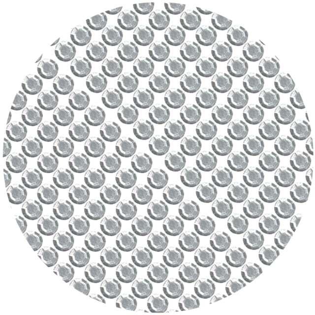 """Dżety samoprzylepne """"Kryształki 3D 8mm"""", srebrne, Brewis"""