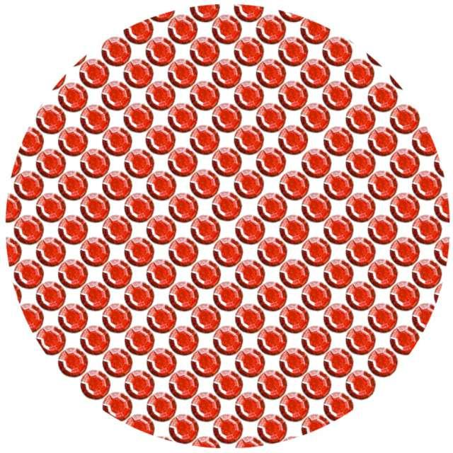 Dżety samoprzylepne Kryształki 3D 8mm czerwone Brewis