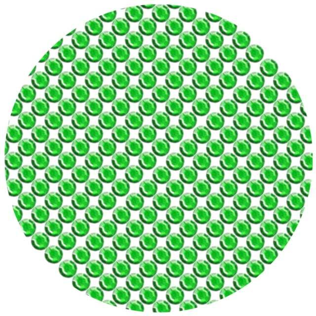 """Dżety samoprzylepne """"Kryształki 3D 8mm"""", zielone, Brewis"""
