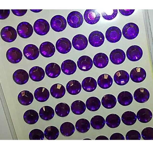 Dżety samoprzylepne Kryształki 3D 8mm fioletowe Brewis