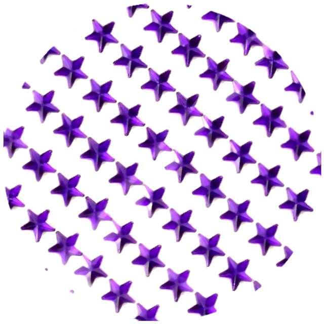 """Dżety samoprzylepne """"Kryształki 3D gwiazdki"""", fioletowe, Brewis"""