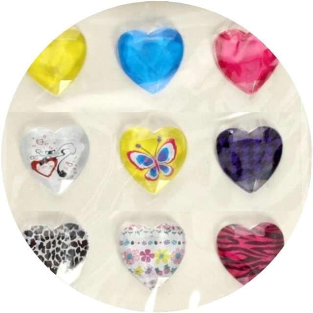 """Dżety samoprzylepne """"Kryształki 3D serca"""", mix, Brewis"""