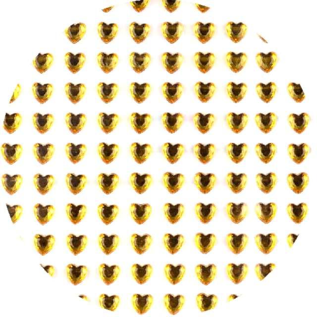 """Dżety samoprzylepne """"Kryształki 3D serduszka"""", złote, Brewis"""