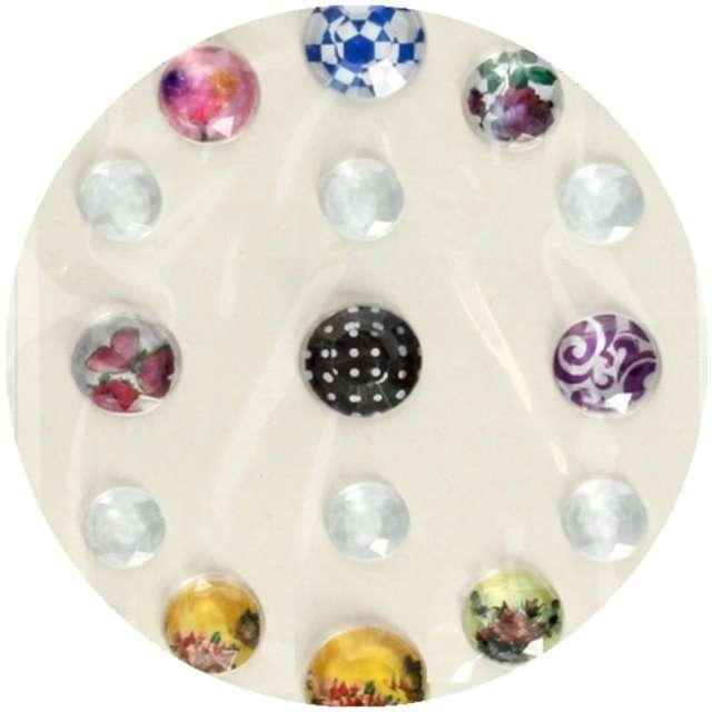 Dżety samoprzylepne Kryształki 3D okrągłe mix Brewis