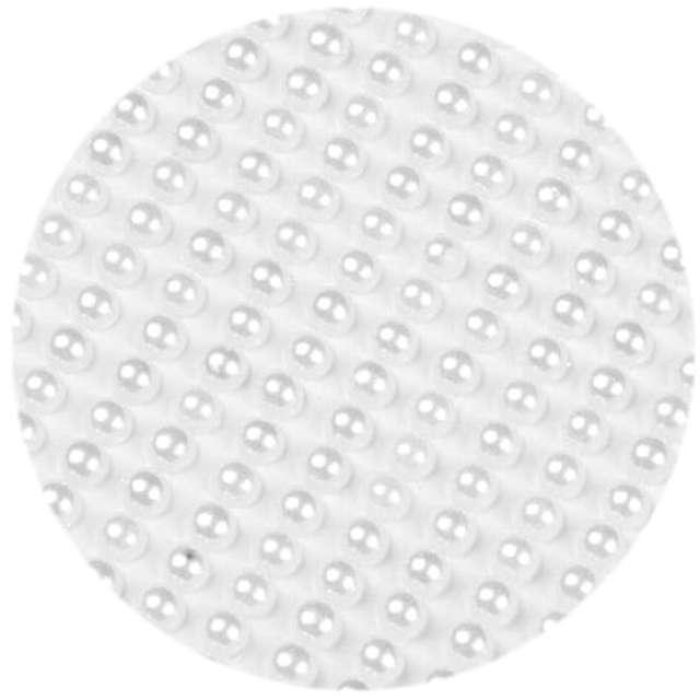 Dżety samoprzylepne Perełki 3D okrągłe perłowe Brewis