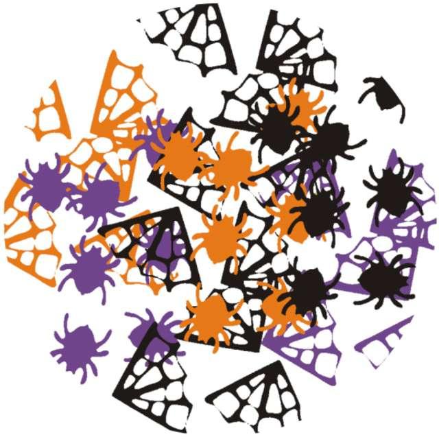 """Konfetti """"Halloween - Pająki i pajęczyny"""", mix, Arpex, 15 g"""