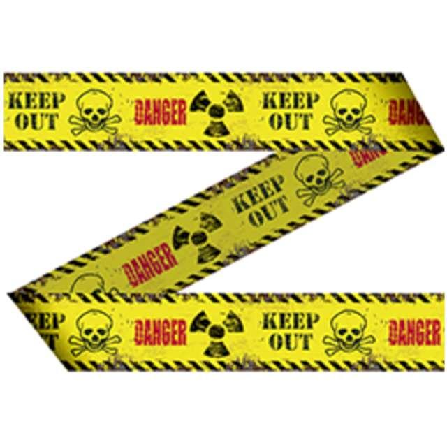 """Taśma party """"Niebezpieczeństwo - Nie wchodzić"""", żółta, Folat, 150 cm"""