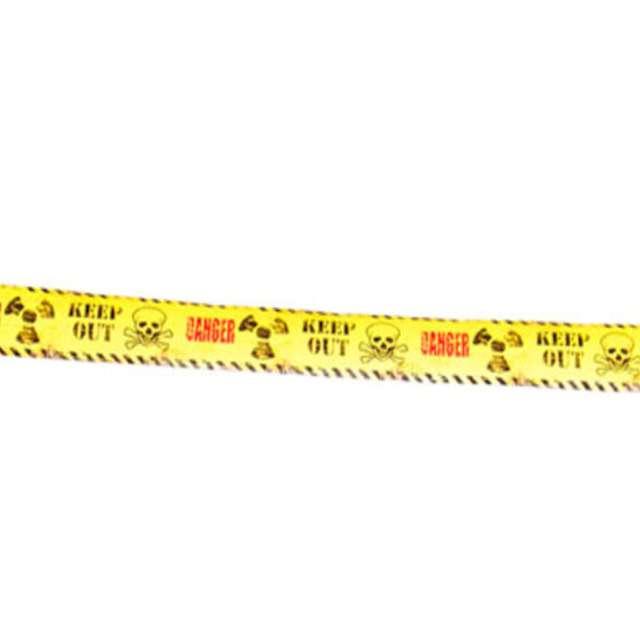 Taśma party Niebezpieczeństwo - Nie wchodzić żółta Folat 150 cm