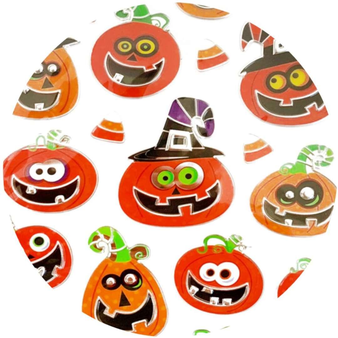 """Naklejki """"Halloween - wesołe Dynie"""", metalizowane, Arpex"""
