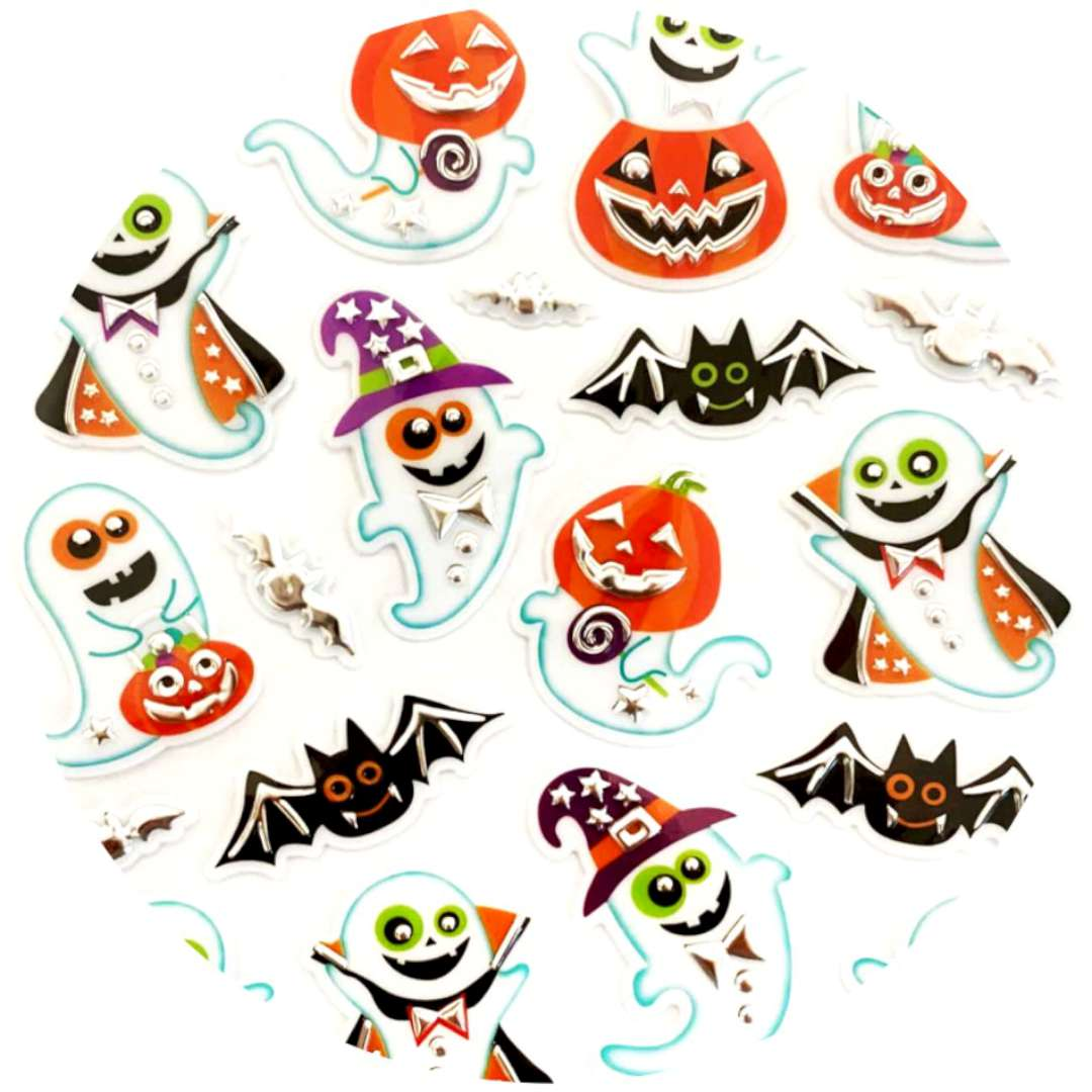 """Naklejki """"Halloween - duchy i dynie"""", metalizowane, Arpex"""