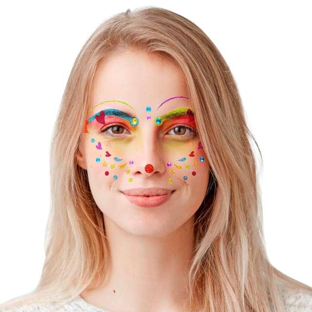 Make-up Naklejki na twarz Klaun wielokolorowy Widmann
