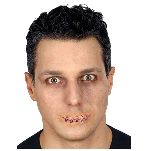 _xx_Pk 12 SEWN MOUTH in professional quality with glue tube