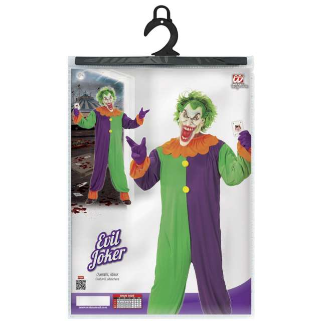 Strój dla dorosłych Joker Widmann rozm. L