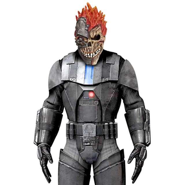 Maska Czaszka Robot lateksowa Widmann