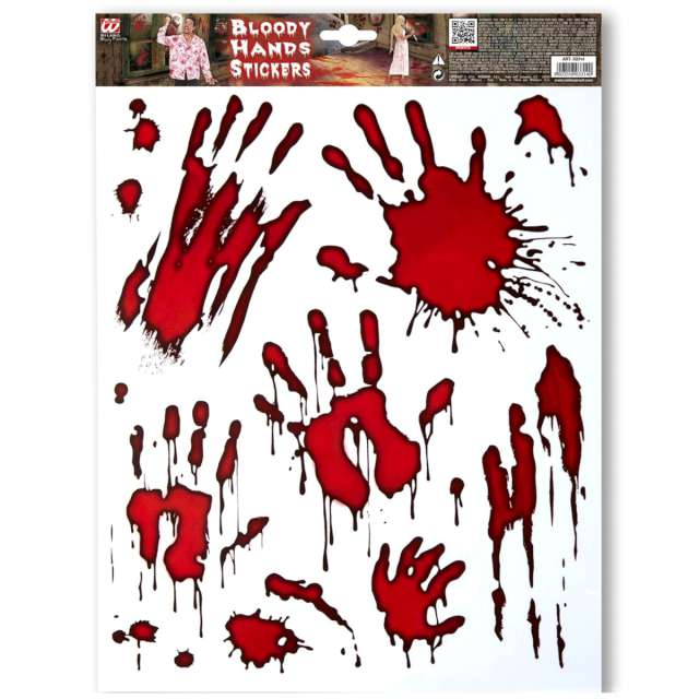 _xx_Pk 12 BLOODY HANDS STICKERS